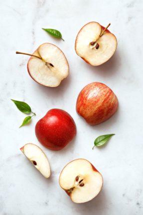 Pommes coupé de différente taille