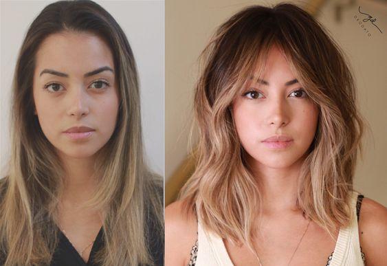 before and after résultat coloration avant et après