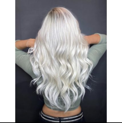 icy blonde with long hair photo Instagram STALTER Coiffeur