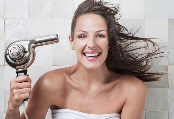 brushing après la douche