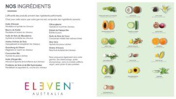 les ingredients eleven Australia chez Stalter Coiffeur strasbourg